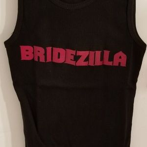 Tops - Bridezilla Screen Printed  Black Tank